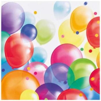 Serwetki Balony - papierowe 33x33