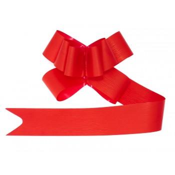 Wstążki ściągane 10szt - czerwone 5cm