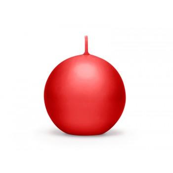 Świeca matowa 8cm Kula - czerwona