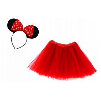 Zestaw Myszka Minnie - czerwona spódniczka