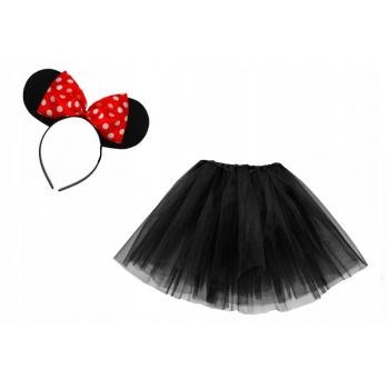 Zestaw Myszka Minnie - czarna spódniczka