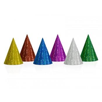 Czapeczki 20szt holograficzne mix papierowe