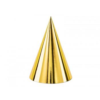 Czapeczki 6szt papierowe złote