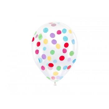Balony z okrągłym konfetti 30cm