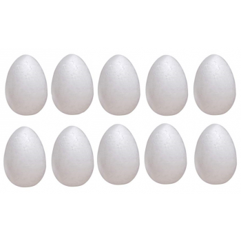 Jajka 8cm 10szt styropianowe