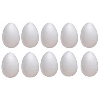 Jajka 10cm 10szt styropianowe