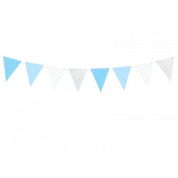 Girlanda papierowa niebieski, srebrny Roczek 1,3m