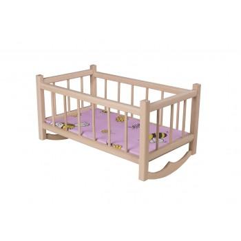 Kołyska drewniana dla lalek wraz z materacykiem