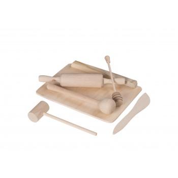 Mini zestaw kuchenny dla dzieci - drewniany