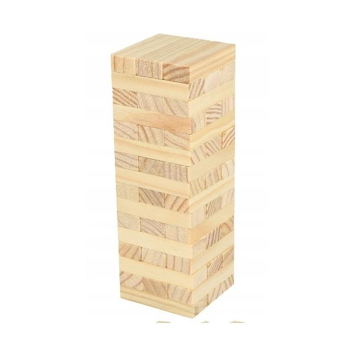 Gra wieża drewniane klocki