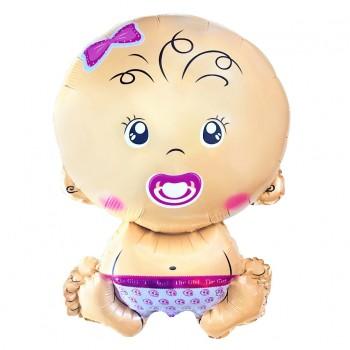 Balon Bobas dziewczynka 74x49cm