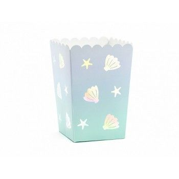 Pudełka na Popcorn 6szt - muszelki Narval