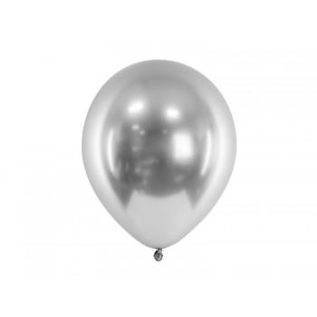 Balon Glossy 50szt metaliczny
