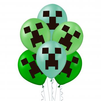 Balony MINECRAFT Piksele 12 szt