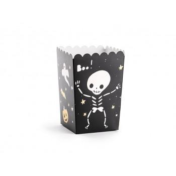 Pudełka na Popcorn HALLOWEEN Kościotrup 6szt