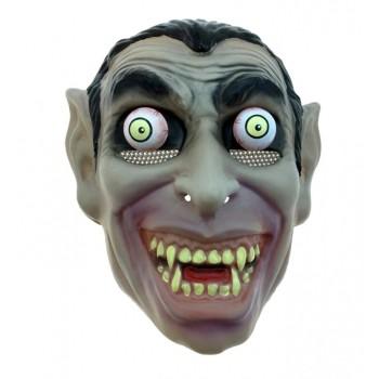 Maska Dracula Wampir z ruchomymi oczami na Halloween