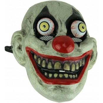 Maska straszny Klaun z ruchomymi oczami na Halloween
