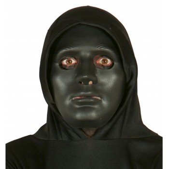 Maska czarna mroczna na Halloween