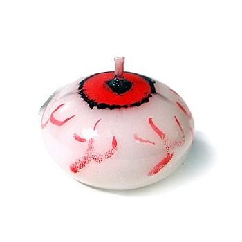 Świeczka pływająca 1szt dysk krwawe oczy na Halloween