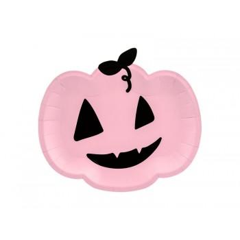 Talerzyki Dynia 6szt na Halloween różowe