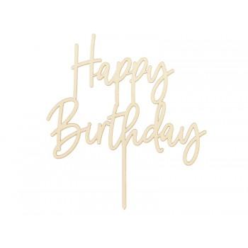 Drewniany Topper Happy Birthday