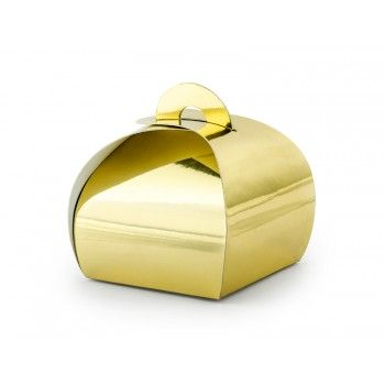 Pudełeczka 10szt złote 6cm - podziękowania dla gości