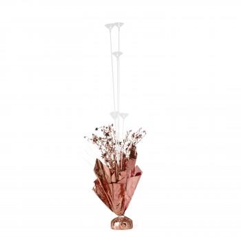 Ciężarek Stojak do balonów różowe złoto