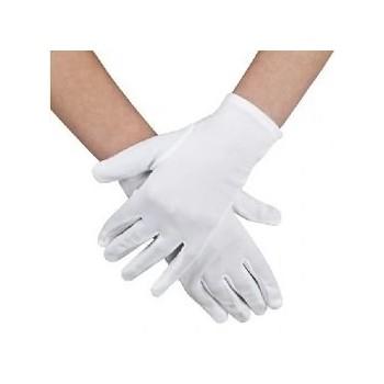 Białe rękawiczki materiałowe