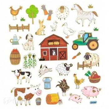 Naklejki FARMA zwierzęta na wsi 32szt