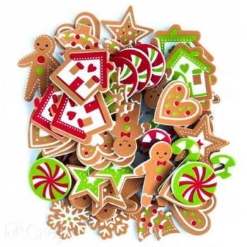 NAKLEJKI z pianki świąteczne PIERNIKI CIASTECZKA