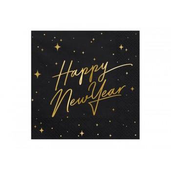 Serwetki Happy New Year na Sylwestra