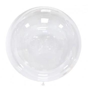 Balon 25cm transparentny przeźroczysty BOBO