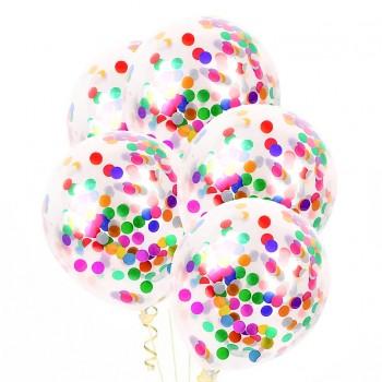 Zestaw balonów z kolorowym konfetti 4szt