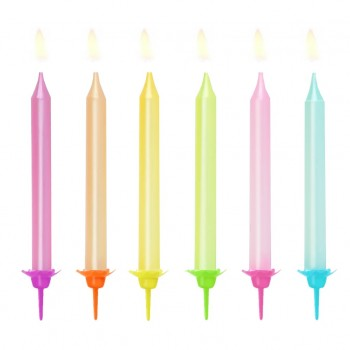 Świeczki urodzinowe 6szt pastelowe metaliczne 8cm