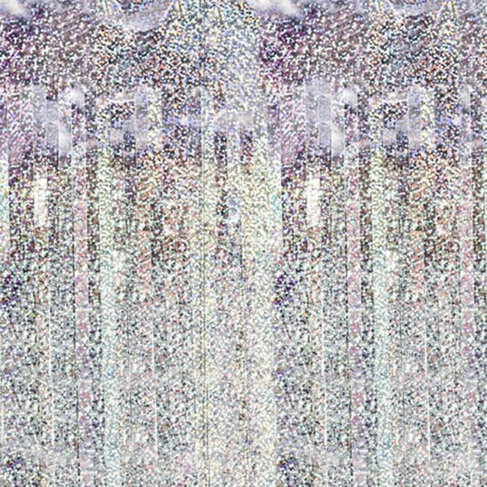 Kurtyna foliowa holograficzna srebrna 100x200cm