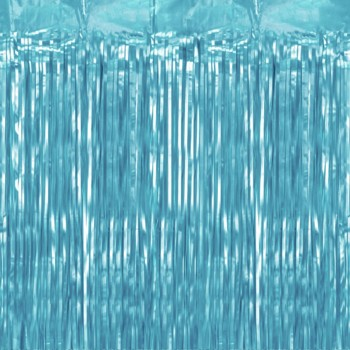 Kurtyna foliowa błękitna 100x200cm
