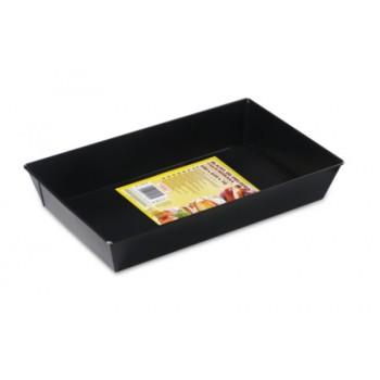 Blacha do pieczenia 39x23,5x7cm czarna prostokątna
