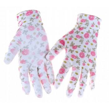Rękawiczki ogrodowe r.8 M różne wzory