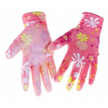 Rękawiczki ogrodowe r.7 S różne wzory