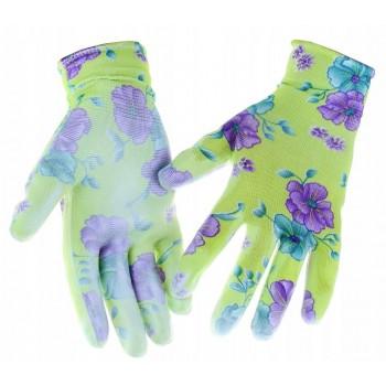 Rękawiczki ogrodowe r.9 L różne wzory