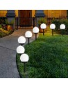 Lampa Solarna zestaw 10szt kula biała ogrodowa 10cm