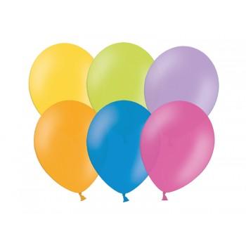 Balony 100szt PASTELOWE 23cm mix kolor