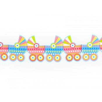 Girlanda papierowa kolorowe Wózeczki 3m