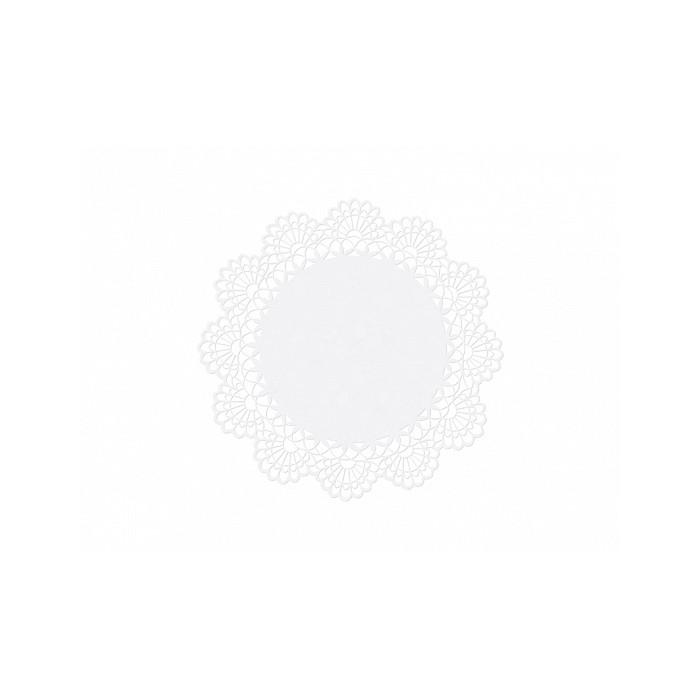 Serwetki Rozetki perłowe białe Ażurowe 10szt