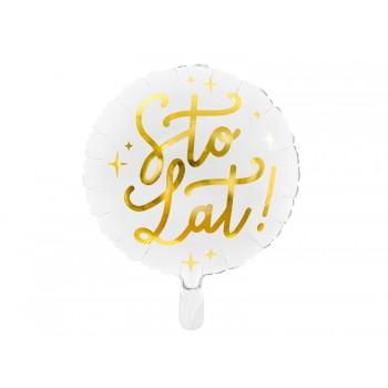 Balon napis Sto Lat! Biały