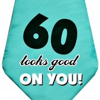 Krawat na 60 urodziny 59cm