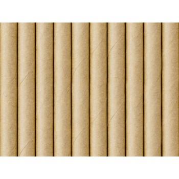 Słomki Kraft 10szt 19.5cm papierowe eko