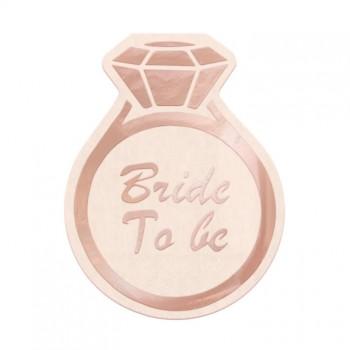 Serwetki Bride to be na Wieczór Panieński pierścionek