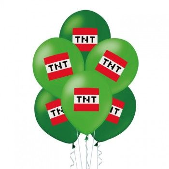 Balony MINECRAFT piksele TNT 12szt