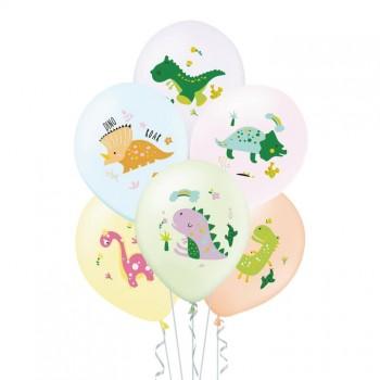 Balony DINOZAURY 6szt mix